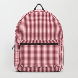 USA Flag Red Blood Mini Gingham Check Backpack