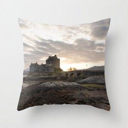 Donan Castle, Isle of Skye Throw Pillow