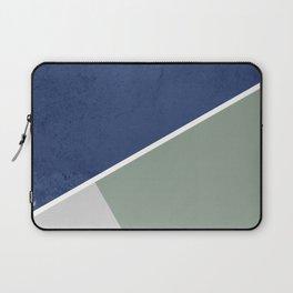 Navy Sage Gray Geometric Laptop Sleeve