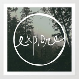 Explore Oregon Forest Art Print