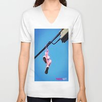 sneakers V-neck T-shirts featuring DISCO SNEAKERS  by Punkboy Marti