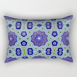Samarkand Kaleidoscope in Blue Rectangular Pillow