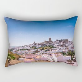 Whitewashed town of Arcos de la Frontera in Cadiz, Andalusia, Spain Rectangular Pillow