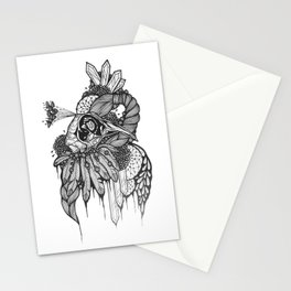 Peacock skull Stationery Cards