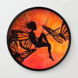 Tiger-Lily Wall Clock