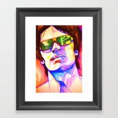 Pencil face Framed Art Print