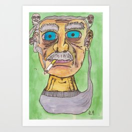 Smoking Grandpas Art Print