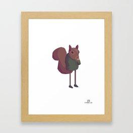 Humanimals - Squirrel Framed Art Print