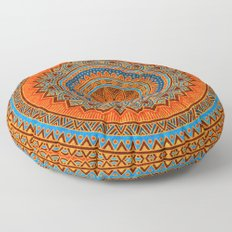 Hippie mandala 77 Floor Pillow