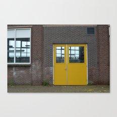 Yellow doors Canvas Print