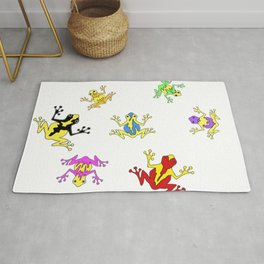 Frogs toads Super Colorful Cute Rug