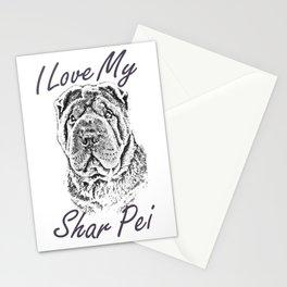 I Love My Shar Pei Stationery Cards