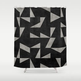Mid-Century Modern Pattern No.12 - Black and Gray Concrete Shower Curtain