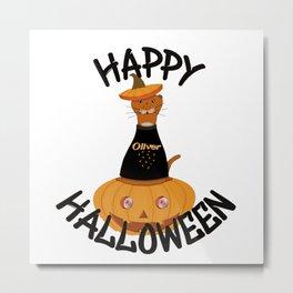 Happy Halloween Oliver! Metal Print