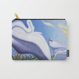 White Swans and Calla Lilies floral landscape painting by Joseph Stella Carry-All Pouch