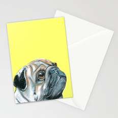 Pug, printed from an original painting by Jiri Bures Stationery Cards
