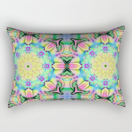 Summer feelings, colourful kaleidoscope design Rectangular Pillow