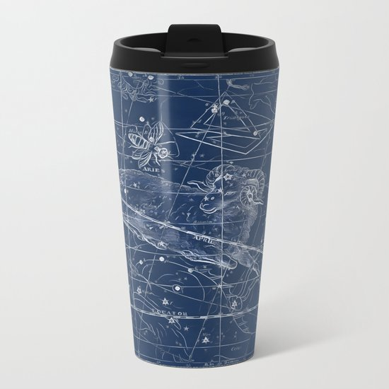 Aries sky star map Metal Travel Mug