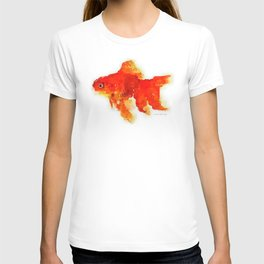 Sleeping Goldfish Watercolor Painting T-shirt