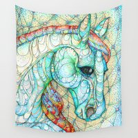 horse Wall Tapestries featuring Horse by Kate Fitzpatrick
