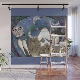 Go to Sleep, Says the Night Wall Mural