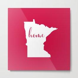 Minnesota is Home - Go Twins - Red Metal Print