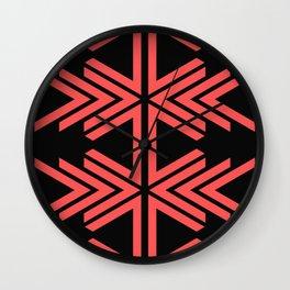 V pattern Wall Clock