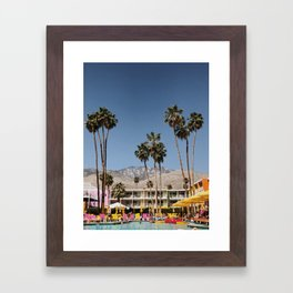 Palm Springs #society6 #decor #buyart Framed Art Print
