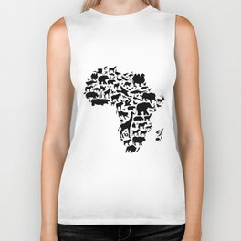 Animals of Africa Biker Tank