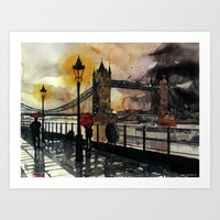 london Art Prints featuring London by takmaj