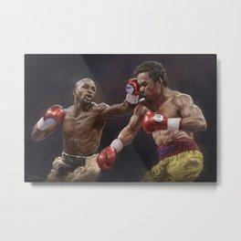 Floyd Mayweather vs Manny Pacquiao Metal Print