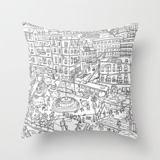 Budapest X Throw Pillow