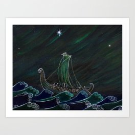 Starlight Voyagers Art Print