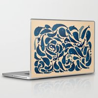 whales Laptop & iPad Skins featuring Whales by Amanda Lima