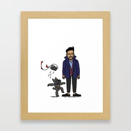 Bono and Friend Framed Art Print