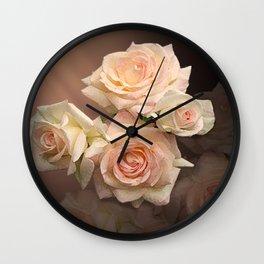 The Roses Blush at Dawn Wall Clock