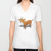 goat V-neck T-shirts featuring  Goat  by mailboxdisco
