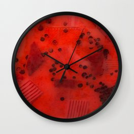 Rainbow Burst Series Red Wall Clock