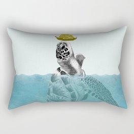 The Giant Sea Turtle Rectangular Pillow