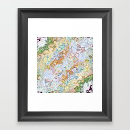 Abstract Shapes Pattern Framed Art Print