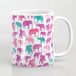 Watercolor Elephant Stampede Pretty Pattern Coffee Mug