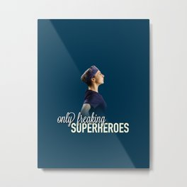 Amelia Shepherd - Only Freaking Superheroes Metal Print