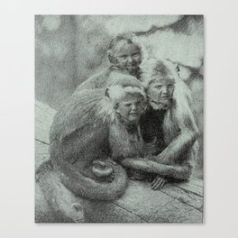 Monkey Children Canvas Print