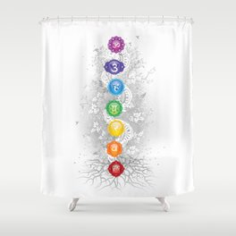 7 Chakra Symbol Tree Of Life #26 Shower Curtain