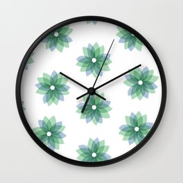Geo Spring Flowers 01 Wall Clock