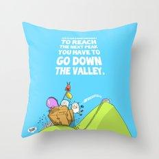 Life is like a mountain range Throw Pillow