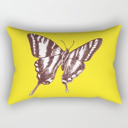 Butterfly on Yellow Rectangular Pillow