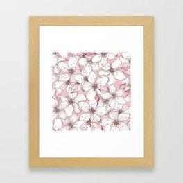 Chery blossom Framed Art Print