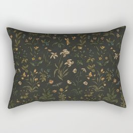 Old World Florals Rectangular Pillow