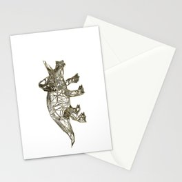 GOLD TRICERATOPS Stationery Cards